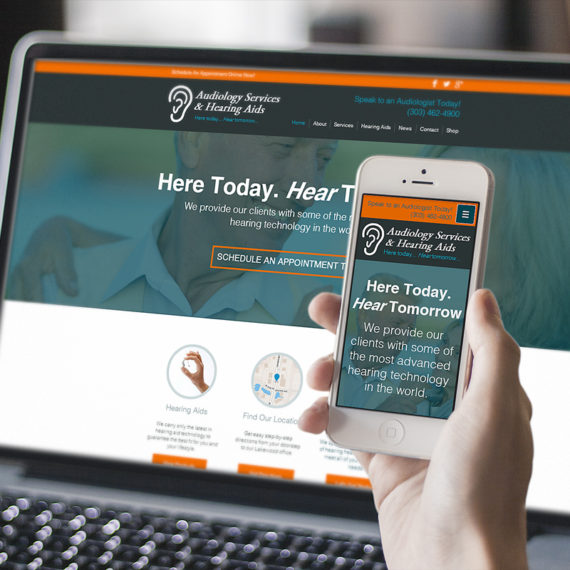 Responsive Website Design & Development for Audiology Services in Denver Colorado