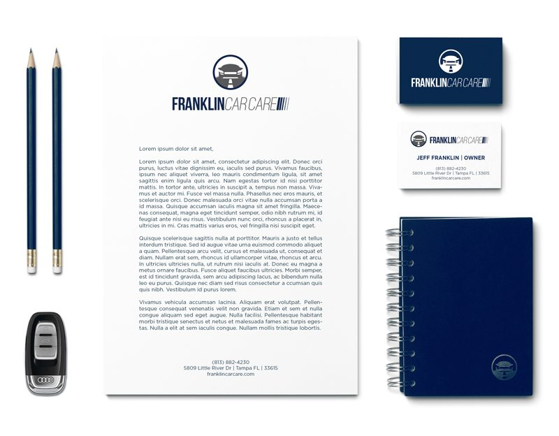 Logo Design & Small Business Branding Design for Franklin Car Care in Tampa Florida