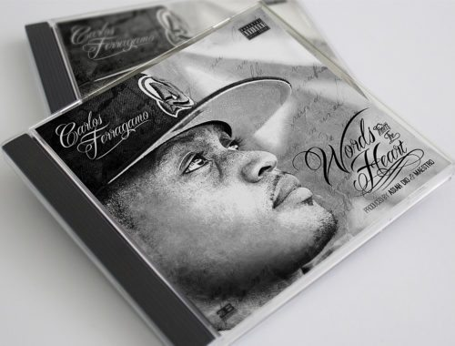 Hip-Hip CD Cover Design and Album Art for Bronx, New York Artist, Producer and Songwriter Carlos Ferragamo