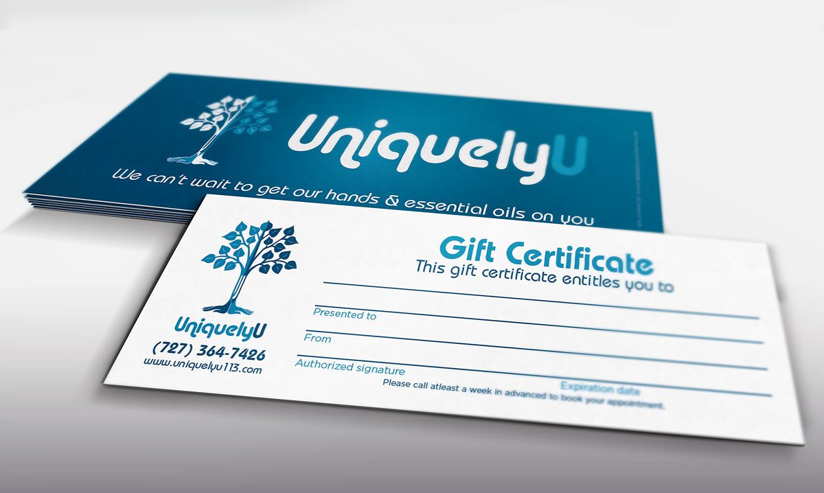 Uniquely u business cards gift certificates design ninjaz magicingreecefo Image collections