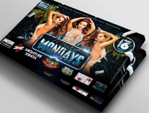 Menage Mondays The Kennedy Wild 94.1 Club Flyer Design Tampa