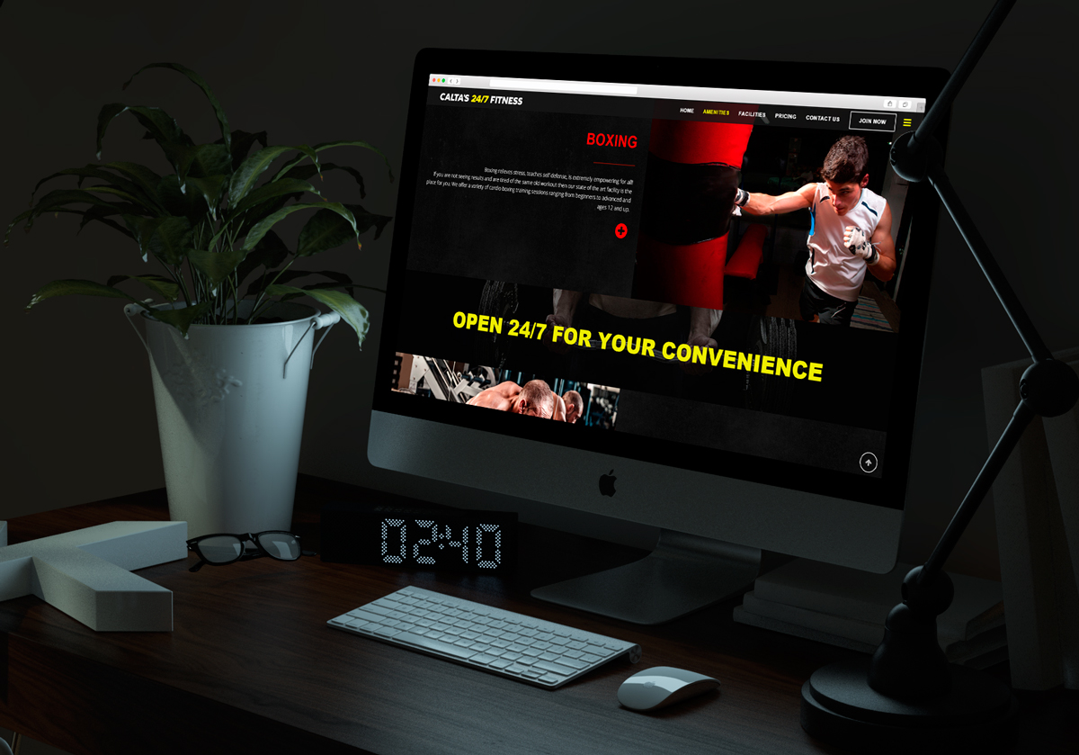 Calta's 24/7 Fitness Responsive Website Design