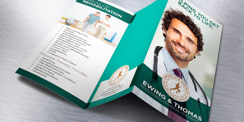 Ewing and Thomas Registered Physical Therapists Brochure Design