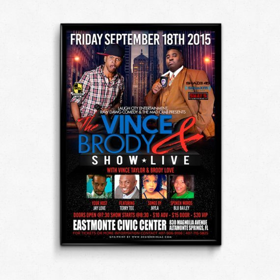 Vince Taylor Brody Love at Eastmonte Center Flyer Design