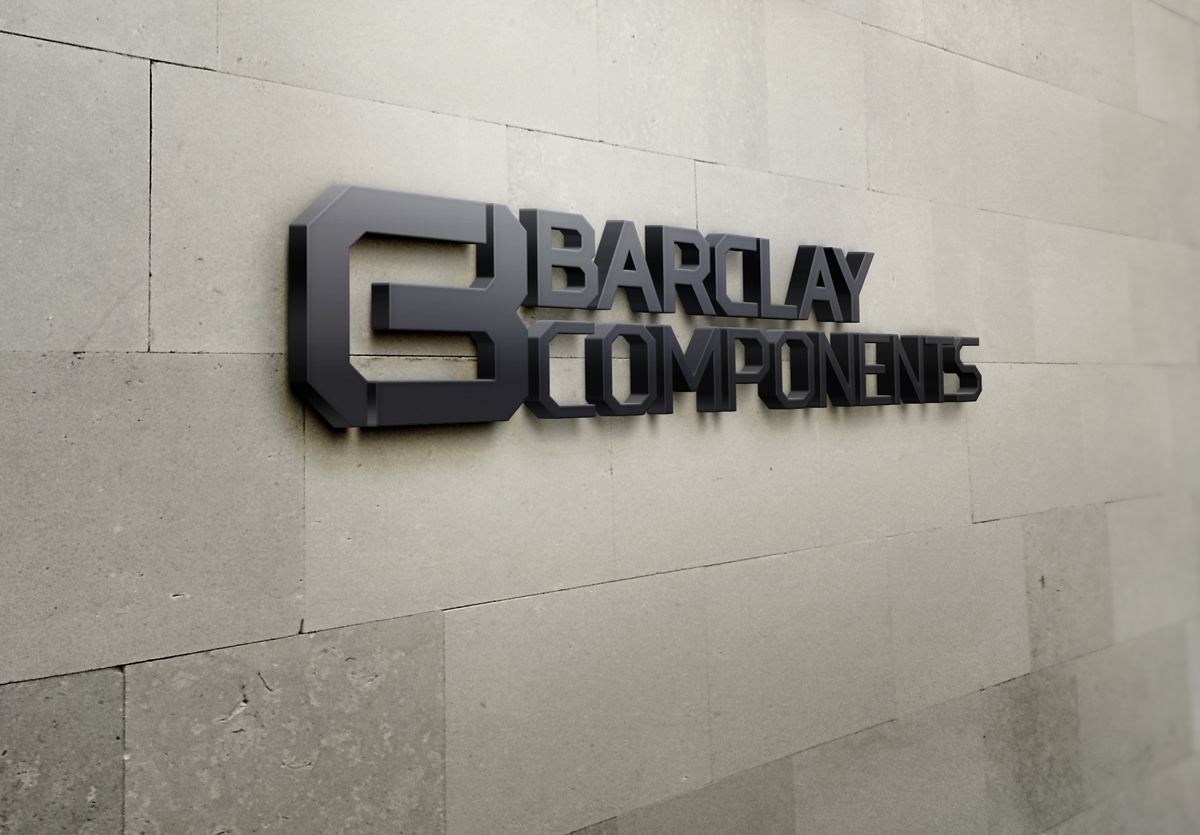 Barclay Components Logo Design & Branding 3D Wall Sign