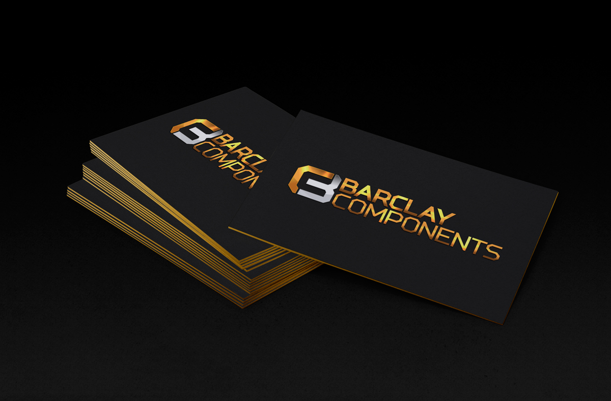 Barclay components logo design branding design ninjaz barclay components logo design branding business card design colourmoves