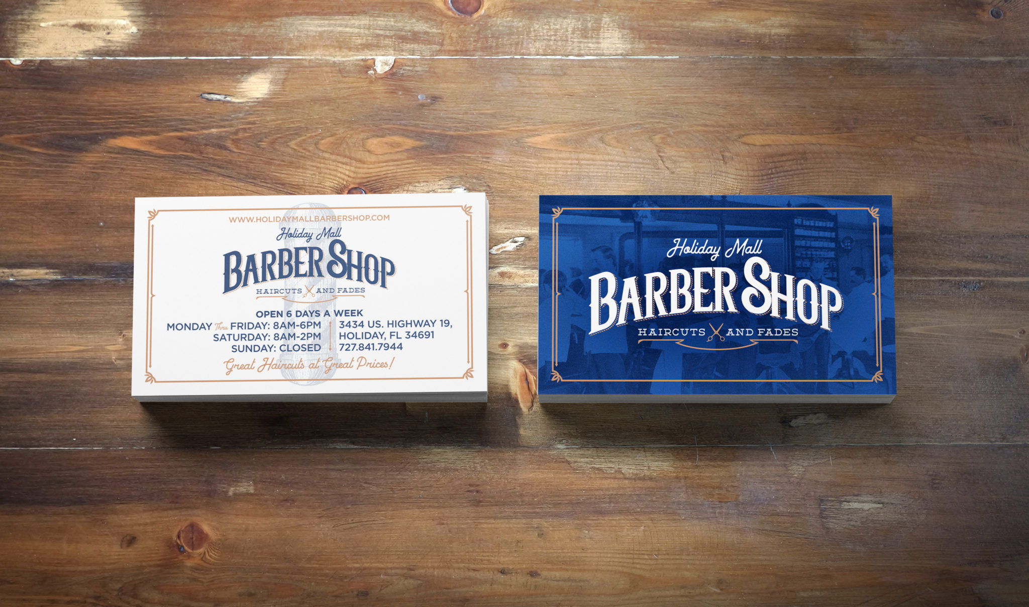 Barbershop business card design