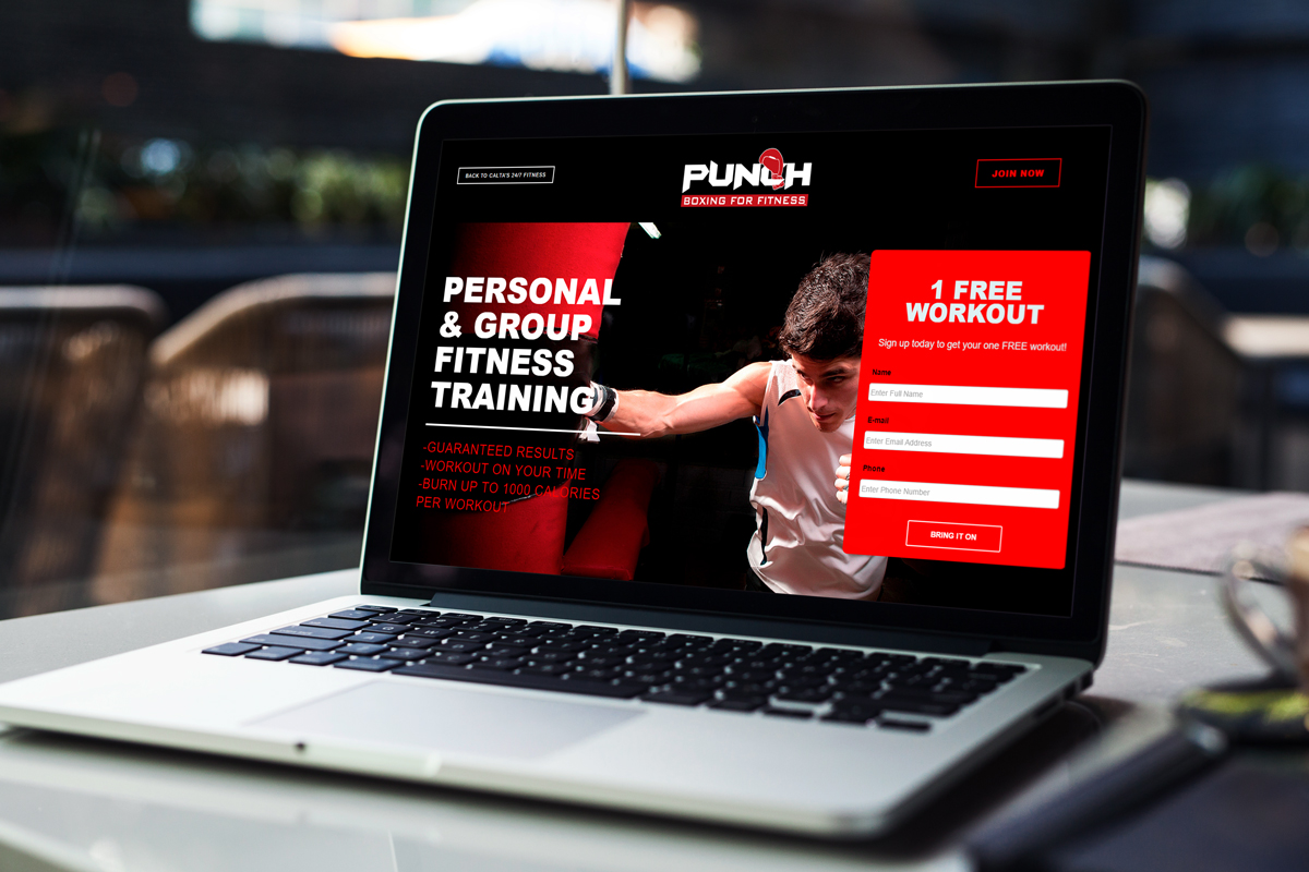 Punch Boxing For Fitness Website