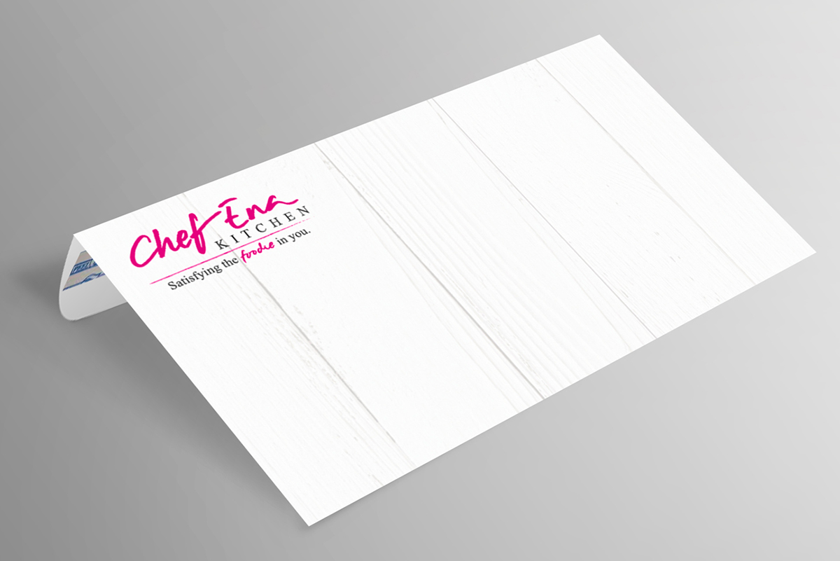 Chef Ena Kitchen Brand Collateral Envelope