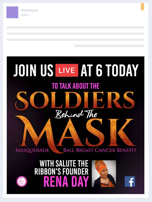 Soldiers Behind The Mask Facebook Graphic Design Event Branding & Collateral