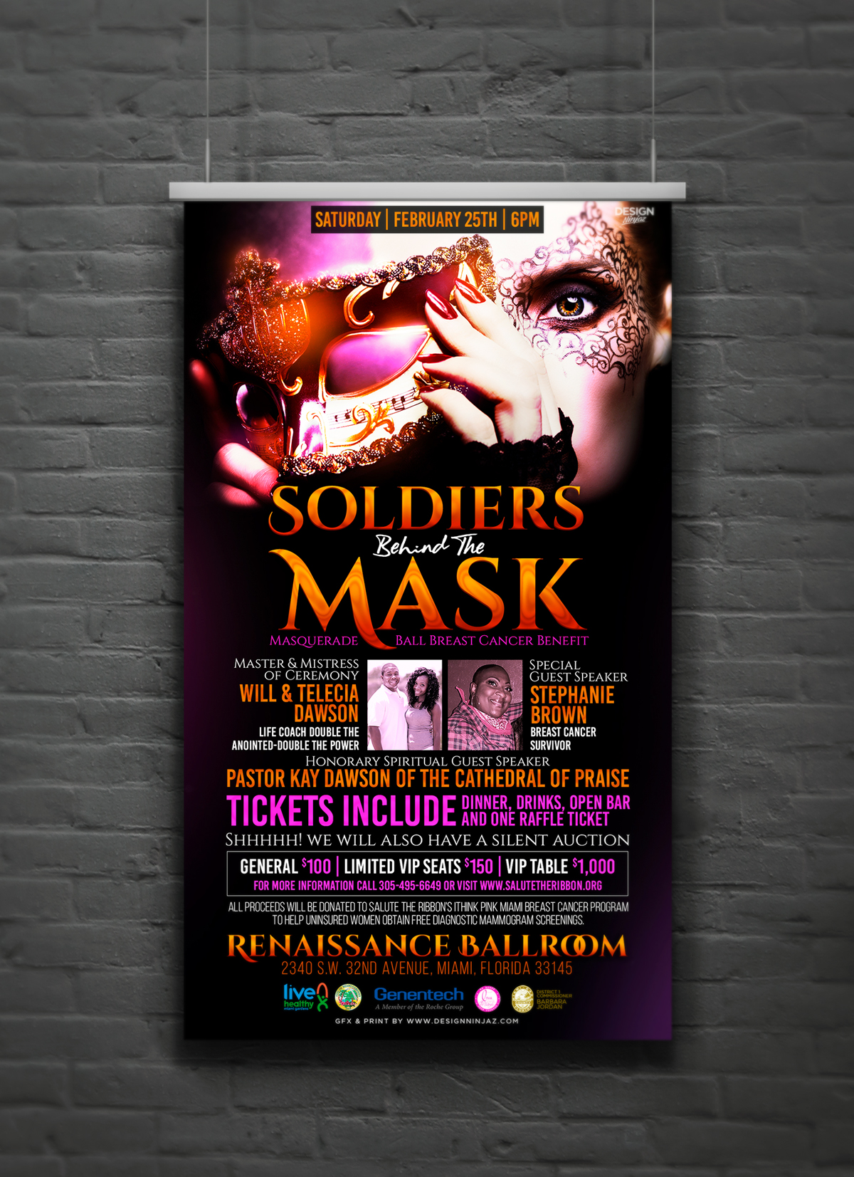Soldiers Behind The Mask Poster Design & Print Event Branding & Collateral