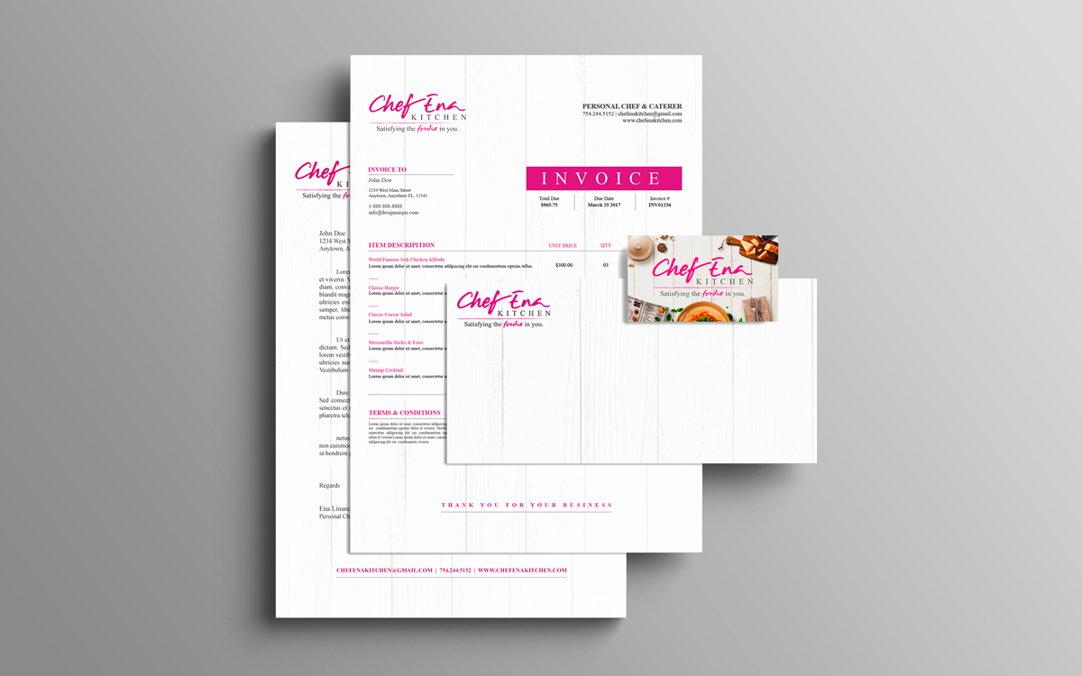 Chef Ena Kitchen Brand Collateral