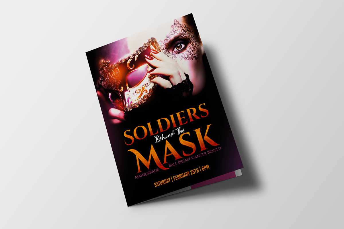 Soldiers Behind The Mask Program Booklet Event Branding & Collateral
