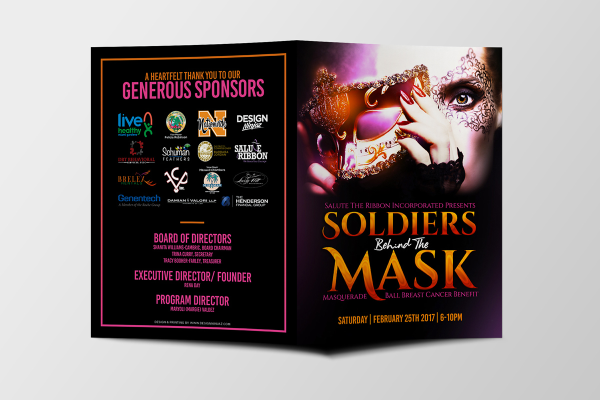 Soldiers Behind The Mask Booklet Design & Print Event Branding & Collateral