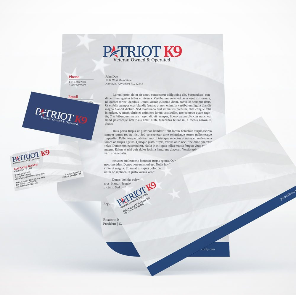 Patriot K9 Brand Collateral Design Ninjaz