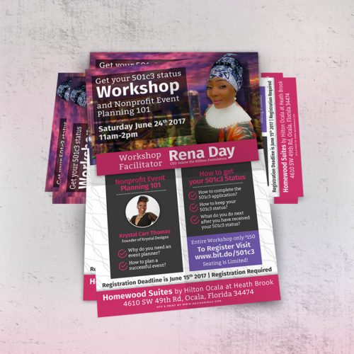 Nonprofit Event Workshop Flyer Design Tampa