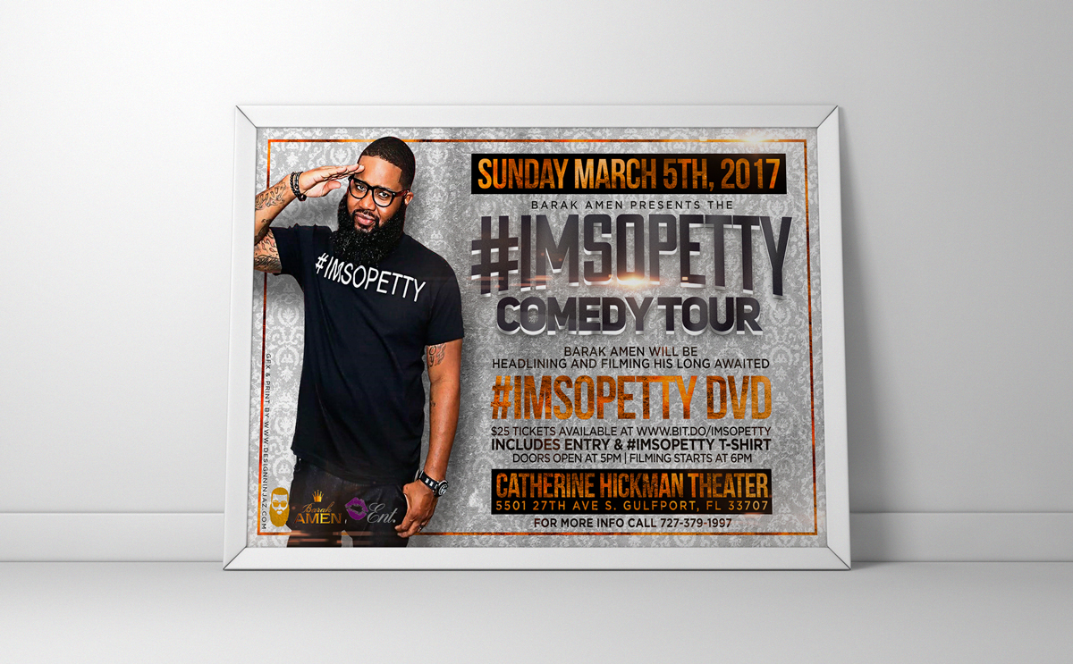 IMSOPETTY Comedy Show Flyer Design St. Petersburg Flordia
