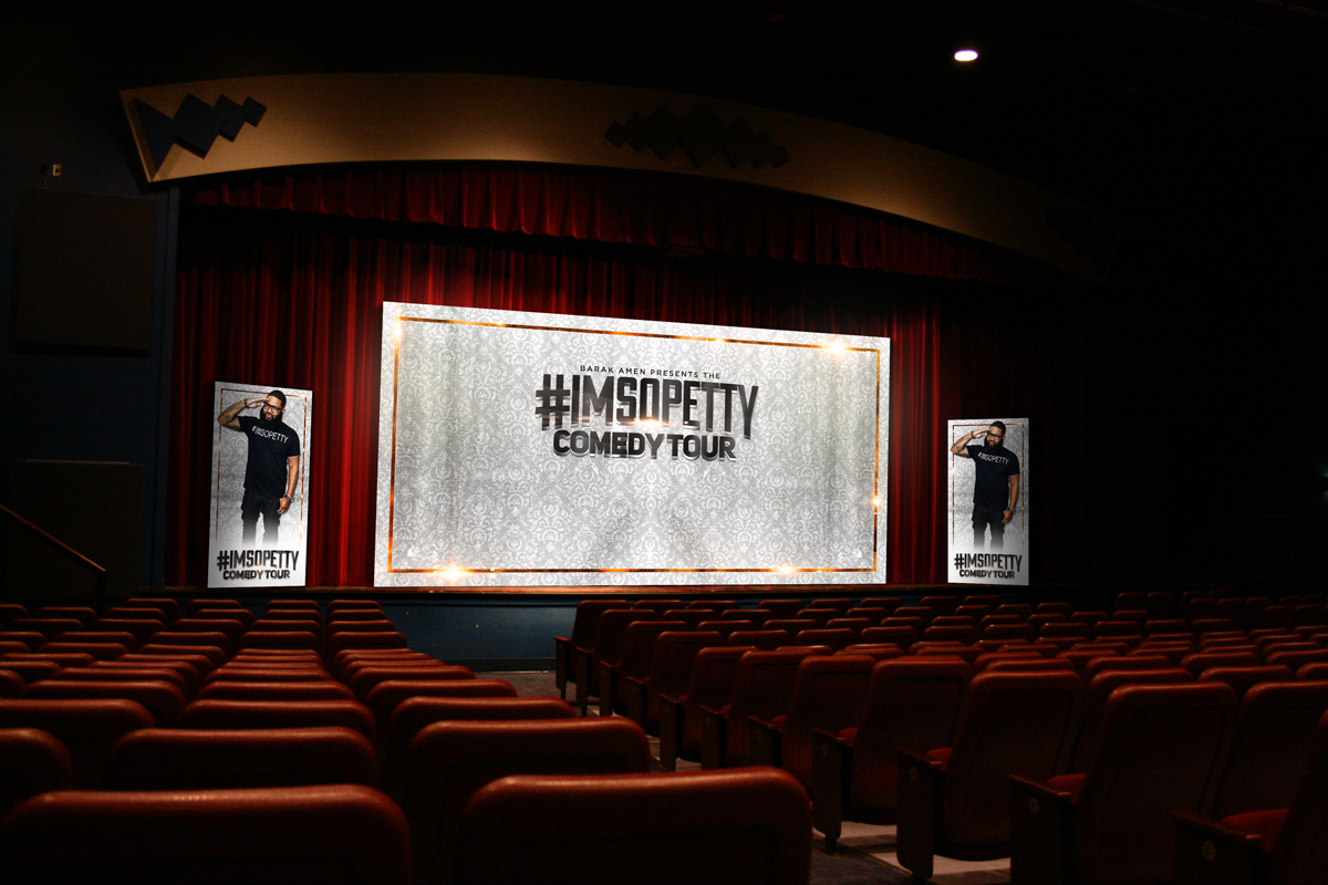 IMSOPETTY Comedy Show Stage Design Branding St. Petersburg Flordia