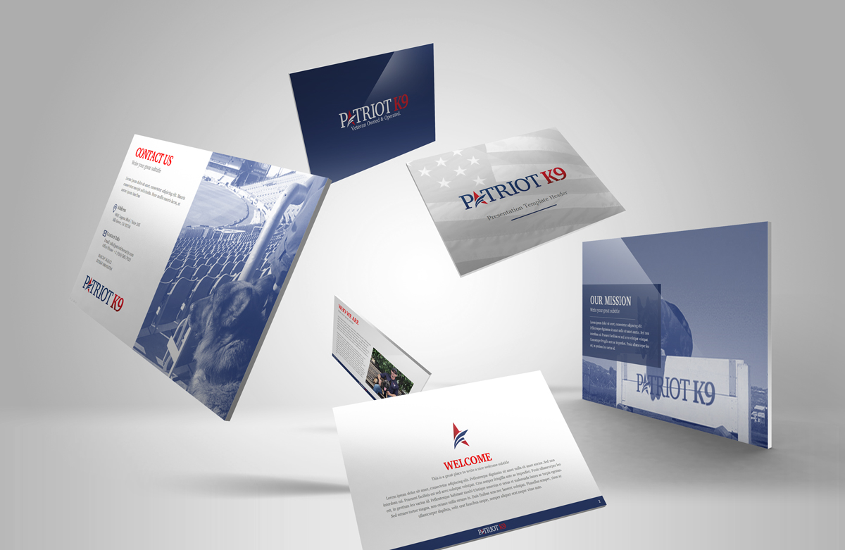 Powerpoint Design - Patriot K9 Brand Collateral Design Ninjaz